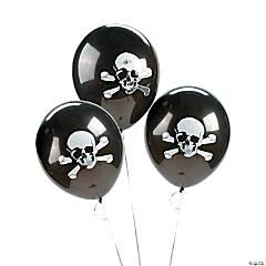 """Skull & Crossbones 11"""" Latex Balloons"""