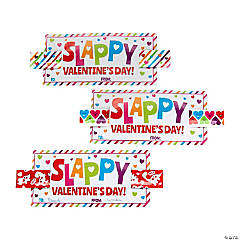 Slappy Valentine's Day Slap Bracelets with Card
