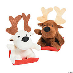 Sledding Stuffed Reindeers