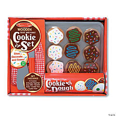 Slice And Bake Cookie Set Wood Play Food