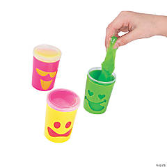 Slime with Fun Faces Containers