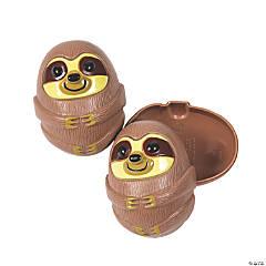 Sloth Plastic Easter Eggs - 12 Pc.