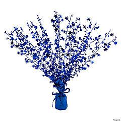 Small Blue Foil Burst Centerpiece