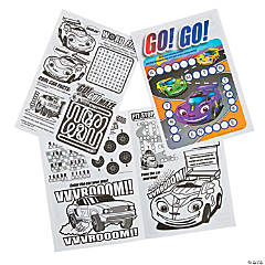 Small Car Coloring & Activity Sheets