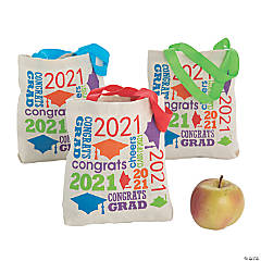 Small Class of 2021 Graduation Tote Bags