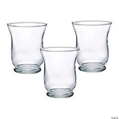 Small Clear Hurricane Candle Holders