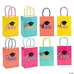 Small Congrats Girl Grad Party Gift Bags