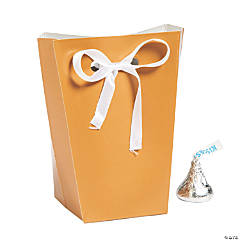 Small Copper Favor Boxes with Ribbon