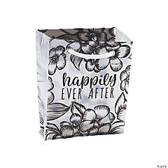 Small Frosted Happily Ever After Wedding Gift Bags