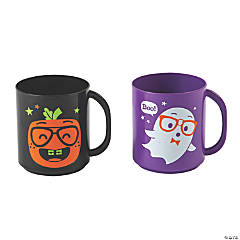 Small Halloween Character Plastic Mugs