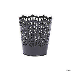 Small Halloween Die-Cut Spider Web Pails