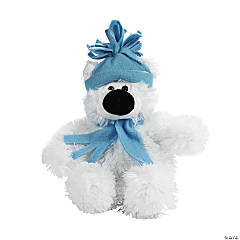 Small Holiday Stuffed Polar Bear
