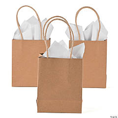Small Kraft Paper Gift Bags