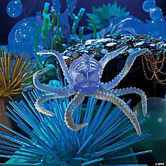 Small Light-Up Octopus Skeleton Halloween Decoration