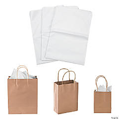 Small, Medium & Large Kraft Paper Bags & White Tissue Paper Kit