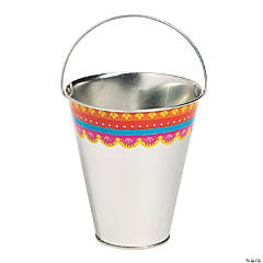 Small Metal Fiesta Pails