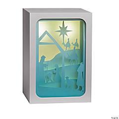 Small Nativity Light-Up Shadow Box