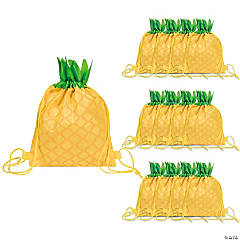 Small Pineapple Drawstring Bags
