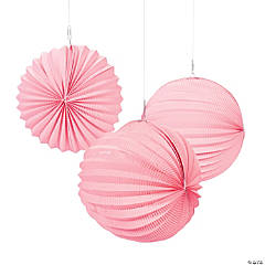 Small Pink Party Paper Lanterns