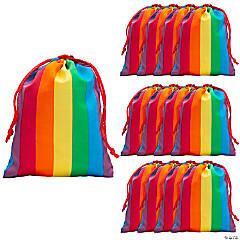 Small Rainbow Drawstring Bags