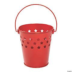 Small Red Patriotic Die-Cut Star Pails