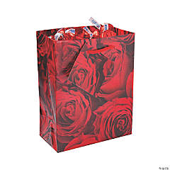Small Rose Gift Bags with Tags
