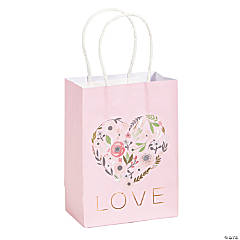 Small Rose Gold Bridal Shower Gift Bags