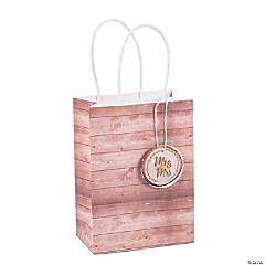 Small Rustic Wedding Gift Bags with Tag