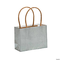 Small Silver Kraft Paper Gift Bags