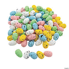 Small Speckled Foam Easter Eggs