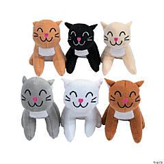 Small Stuffed Cats - 12 Pc.