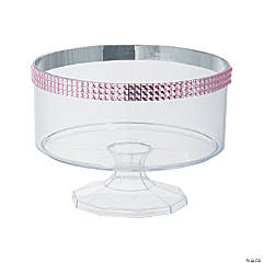 Small Trifle Container with Pink Gem Trim