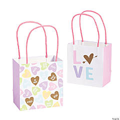 Small Valentine Conversation Hearts Gift Bags