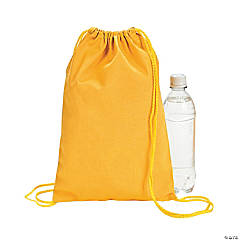 Small Yellow Canvas Drawstring Bags