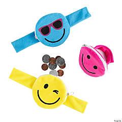 Smile Face Coin Purse Slap Bracelets