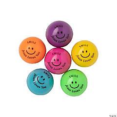 Smile Jesus Loves You Mini Bouncy Balls - 48 Pc.
