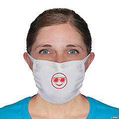 Smiley Face Fabric Face Mask