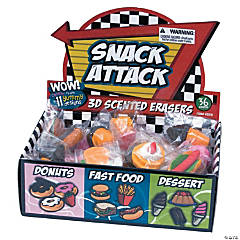 Snack Attack Scented Erasers