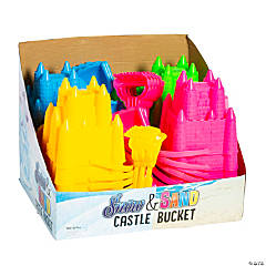 Snow & Sand Castle Buckets with Shovel or Rake