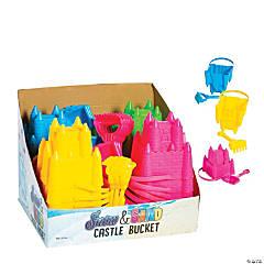 Snow Castle Buckets with Shovel or Rake