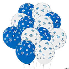 "Snowflake 11"" Latex Balloons"