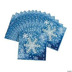 Snowflake Beverage Napkins