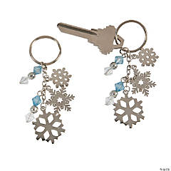 Snowflake Charm Keychains