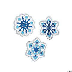Snowflake Enamel Pins