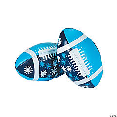 Snowflake Footballs - 12 Pc.