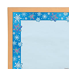 Snowflake Iridescent Bulletin Board Borders