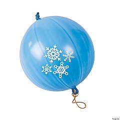 Snowflake Latex Punch Ball Balloons - 12 Pc.
