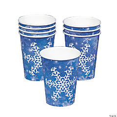 Snowflake Paper Cups(8 pcs./set) 9 oz.