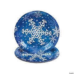 Snowflake Paper Dessert Plates - 8 Ct.