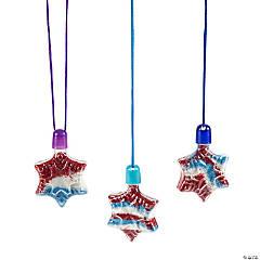 Snowflake Sand Art Necklaces